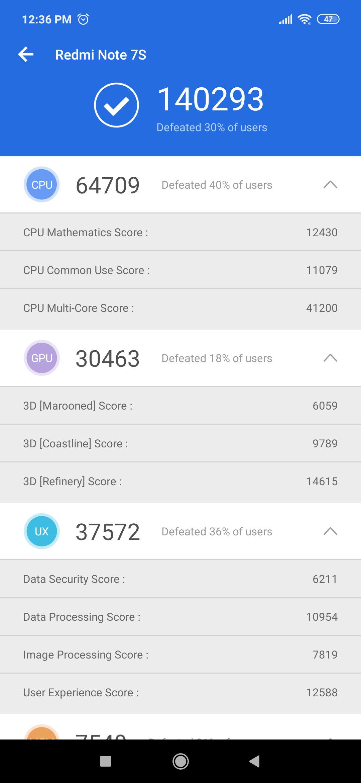 Xiaomi Redmi Note 7S Benchmark AnTuTu