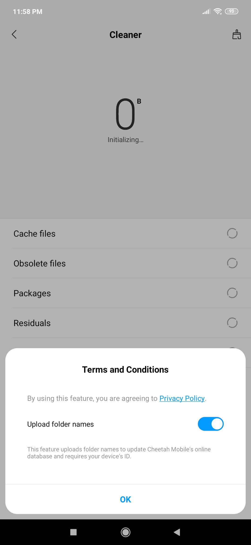 Xiaomi Redmi Note 7S Software Screenshot