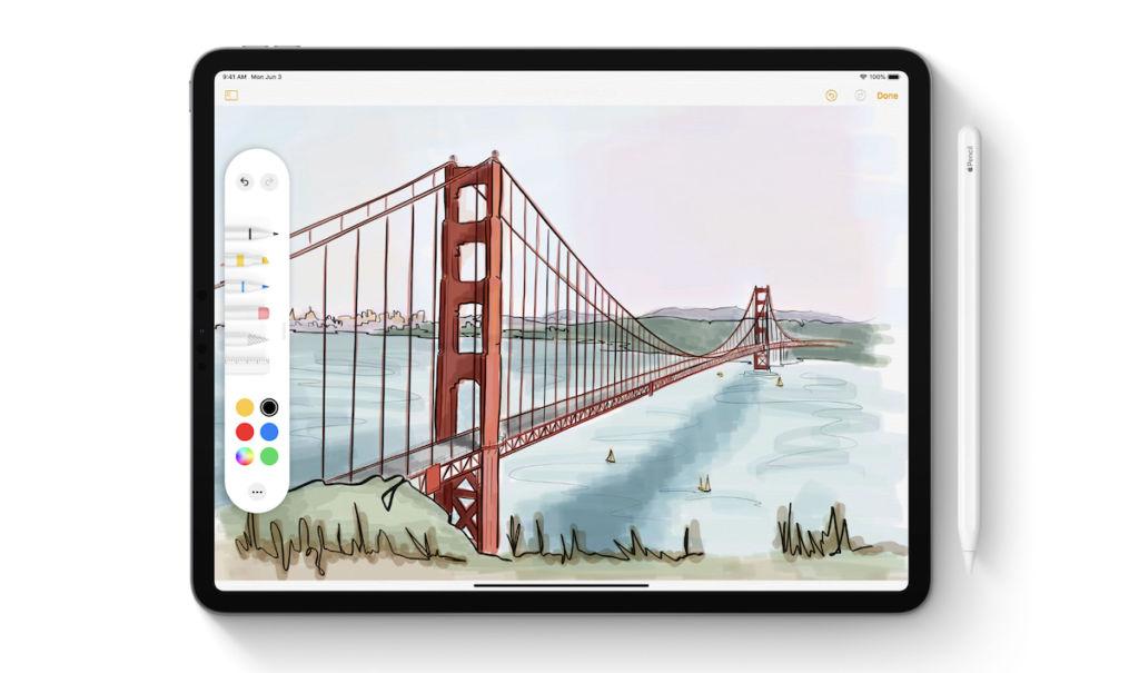 iPadOS Tool Palette