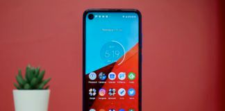 Motorola One Vision Screen Front Design