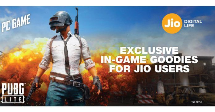Reliance Jio Offers Free Skins to PUBG LITE Players, Here's