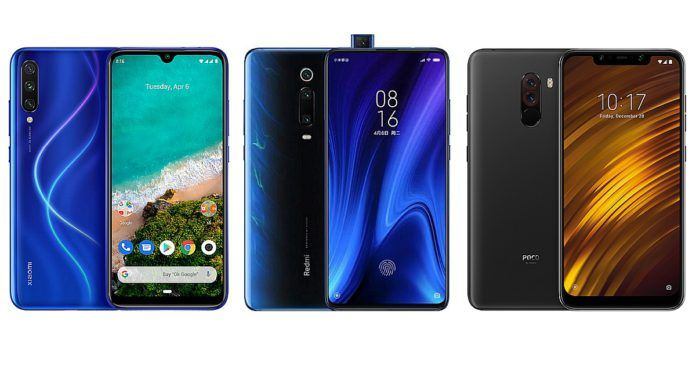 Xiaomi Mi A3 vs Redmi K20 vs POCO F1