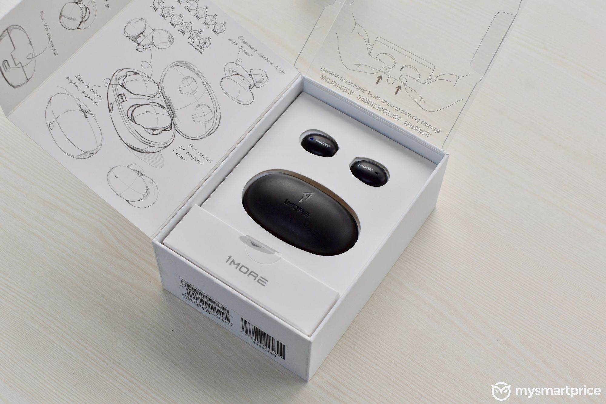 1More Stylish True Wireless Earbuds Box Opened
