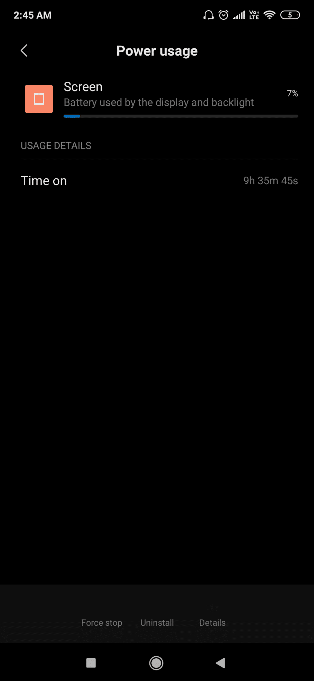 Redmi K20 Pro Battery Life Screenshot