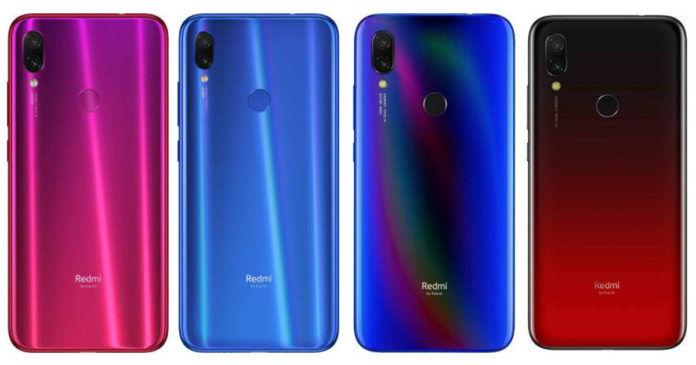 Xiaomi Redmi Note 7 Pro, Xiaomi Redmi Note 7S, Xiaomi Redmi Y3, Xiaomi Redmi 7