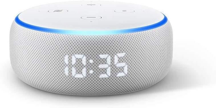Amazon Echo Dot 3rd Gen With LED Clock