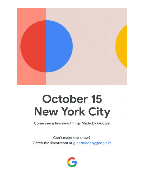 Google Hardware Launch Event Invite October 14 2020