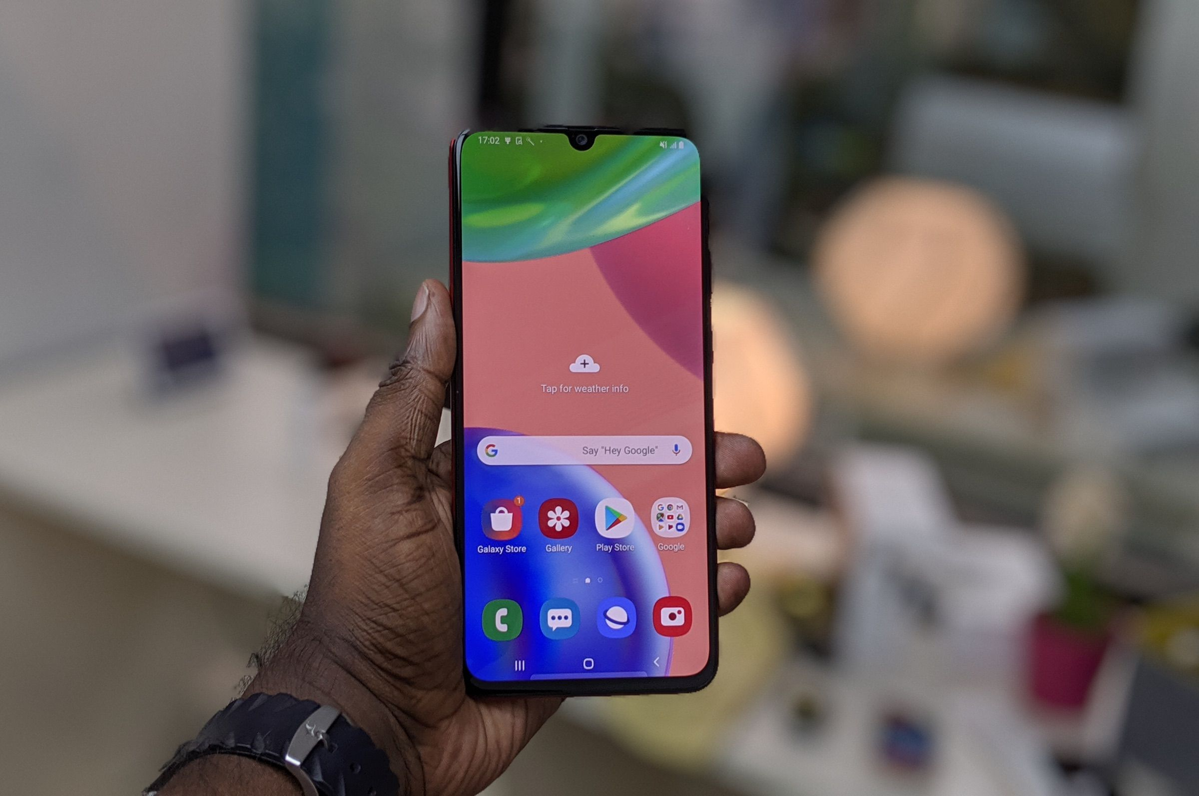 Samsung Galaxy A70s Design Header