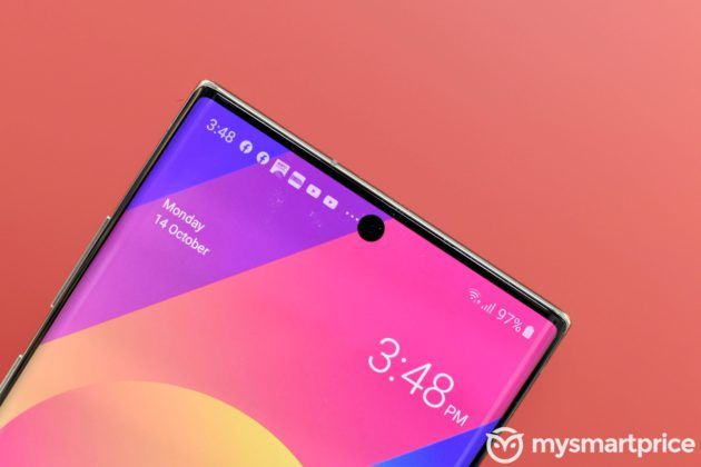 Samsung Galaxy Note 10+ Selfie Camera Punch Hole In Screen