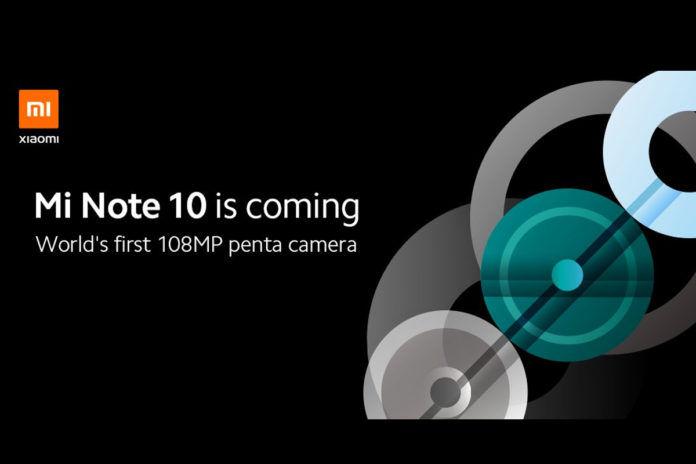 Xiaomi Mi Note 10 teaser image