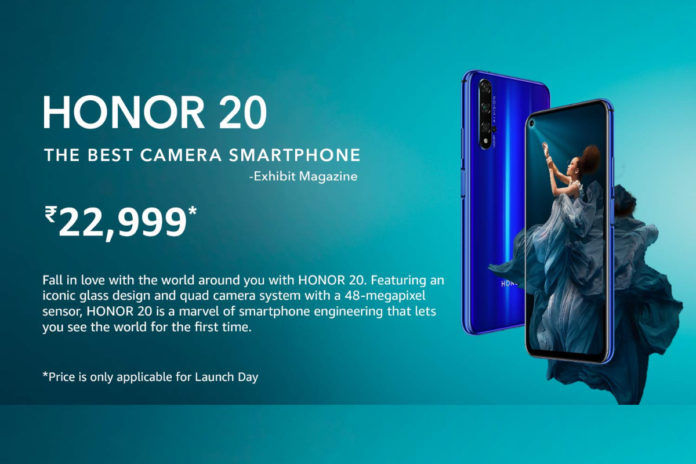 Honor 20 to be offered in India at INR 22,999