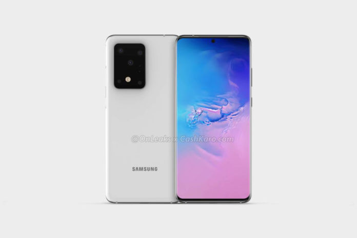 Samsung Galaxy S11 Plus rendered image