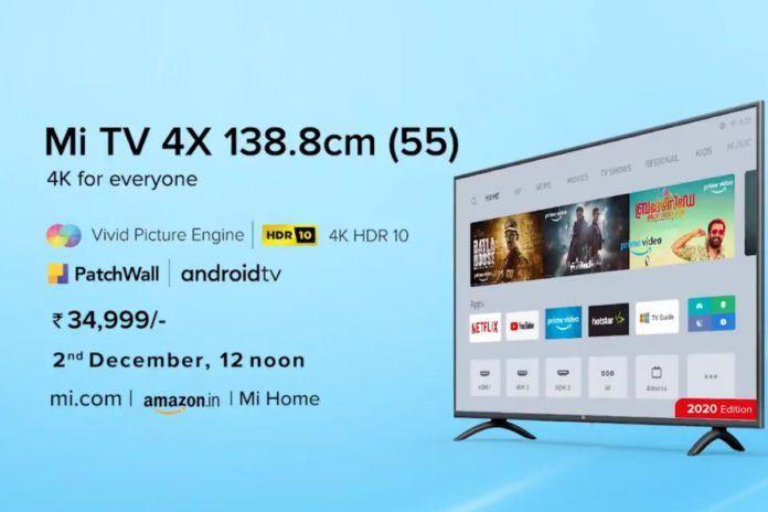 mi tv 4x 55 inch 2020