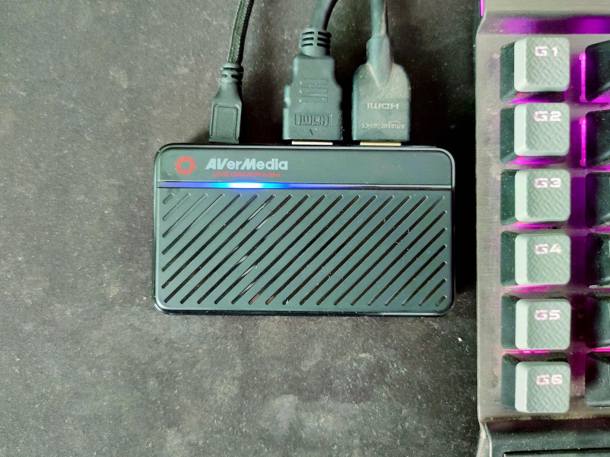 AVerMedia Live Gamer MINI GC311 Ports Connected