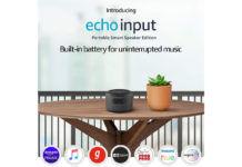 Amazon Echo Input Portable Smart Speaker
