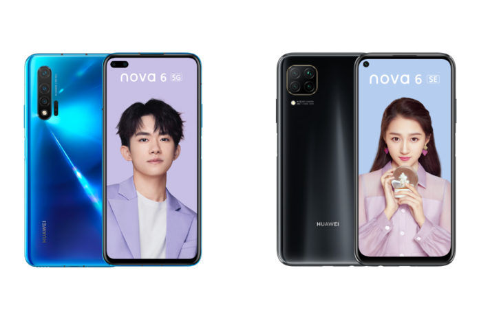 Huawei Nova 6 and Nova 6 SE