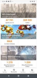 Motorola One Macro Software UI - 3DMark GPU Benchmark Score
