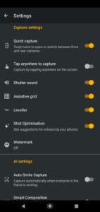Motorola One Macro Software UI - Camera App Settings 02