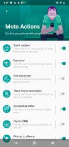 Motorola One Macro Software UI - Moto Actions 01