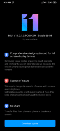Redmi Note 8 MIUI 11 update changelog screenshot India (01)