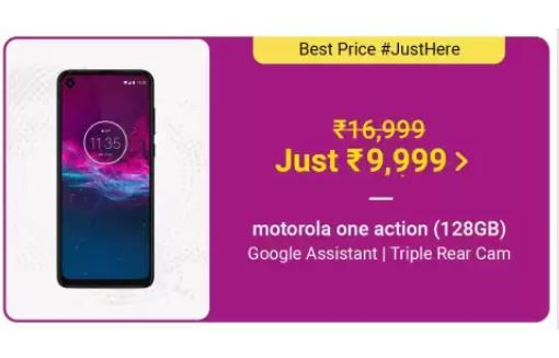 motorola one action price cut