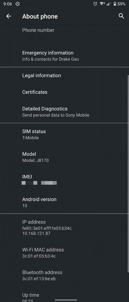 xperia 1 android 10 update