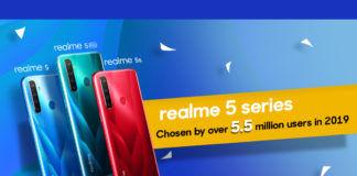 Realme 5 series 5.5 million sales milestone