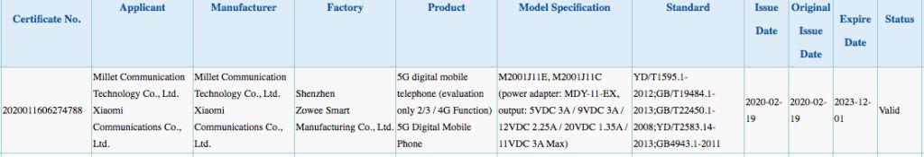 Redmi K30 Pro 5G spotted on 3C certification website