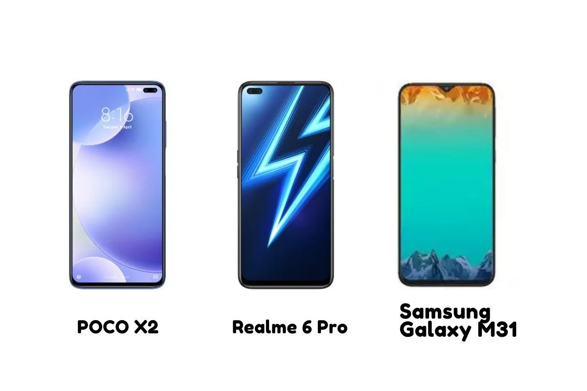 Realme 6 Pro Vs Poco X2 Vs Samsung Galaxy M31 Price In India Specifications Features Compared Mysmartprice