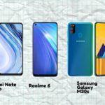 redmi note 9 pro vs realme 6 vs Samsung galaxy m30s