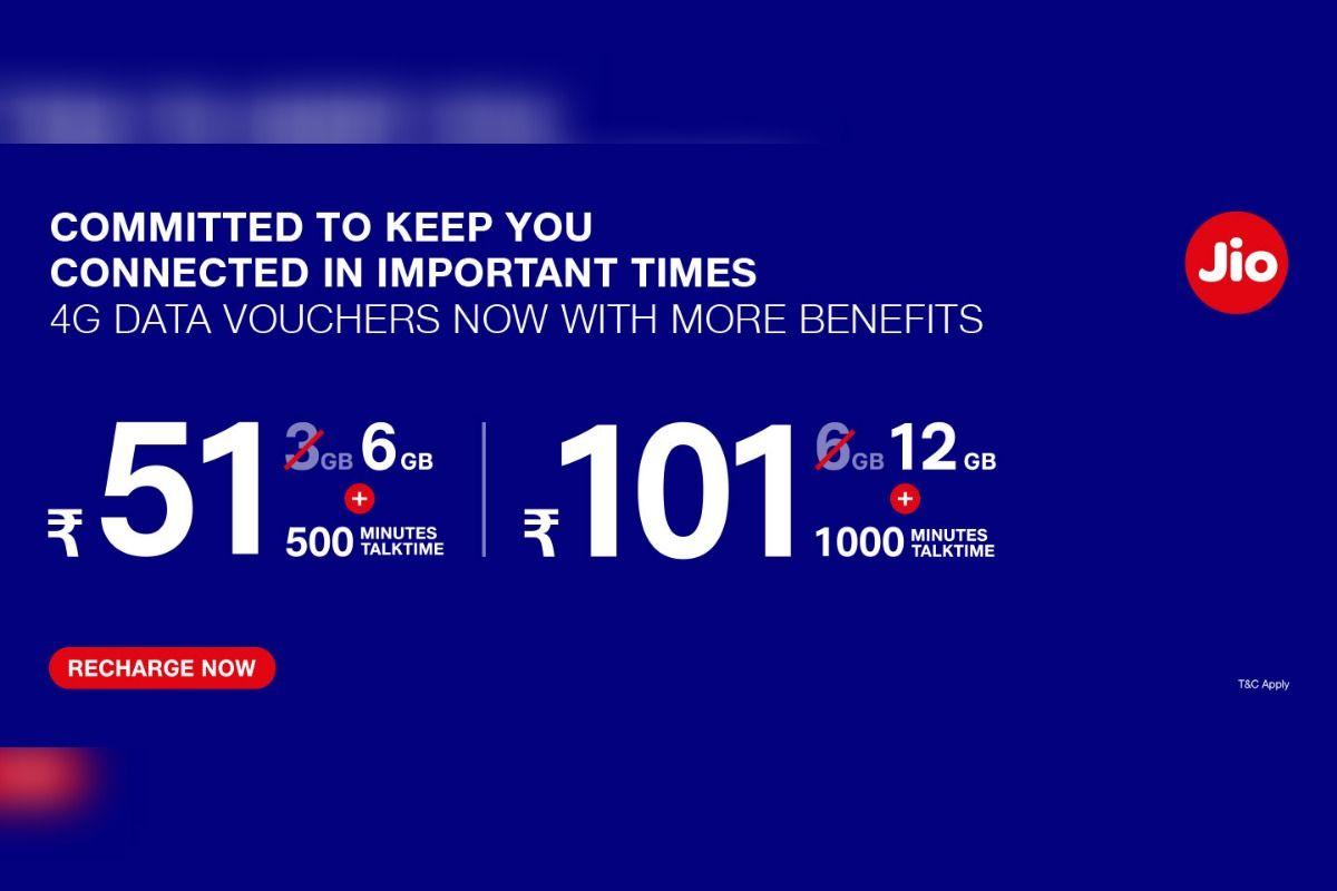 Jio 4G Data Plans 2020: Best Jio 4G Data Vouchers that Offer Up to ...