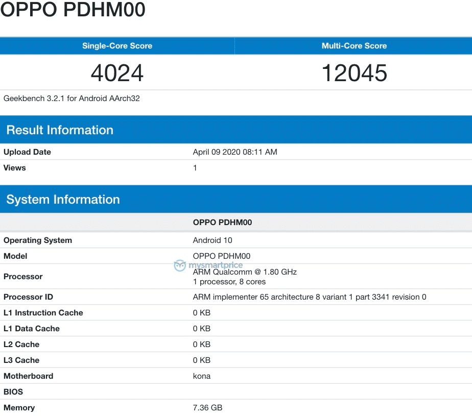 oppo ace 2 geekbench