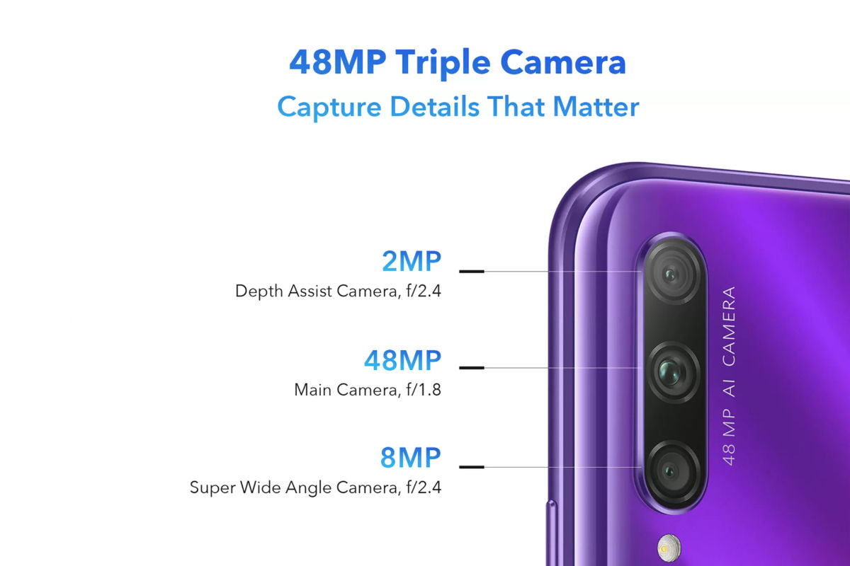 Honor 9X Pro (camera specifications)