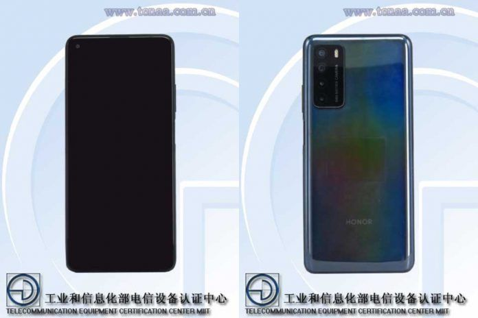 Huawei TNNH-AN00 front and rear images from TENAA