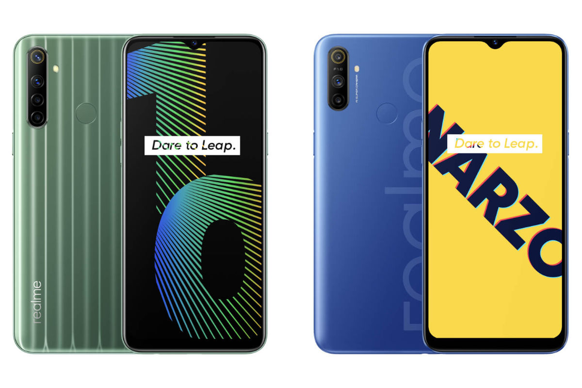 Realme Narzo 10 and Narzo 10A official images