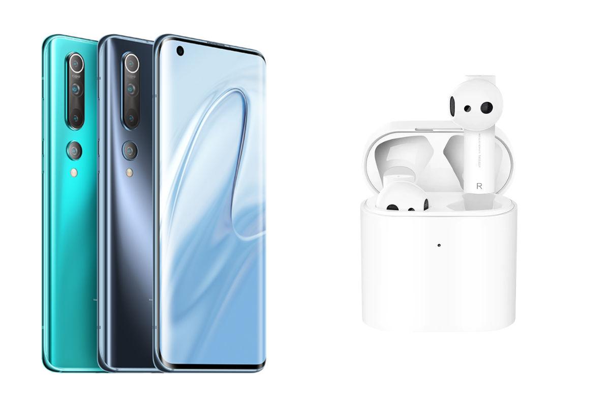 Xiaomi Mi 10 and Mi AirDots Pro 2