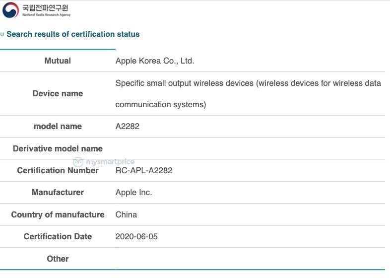 Apple A2282 NRRA