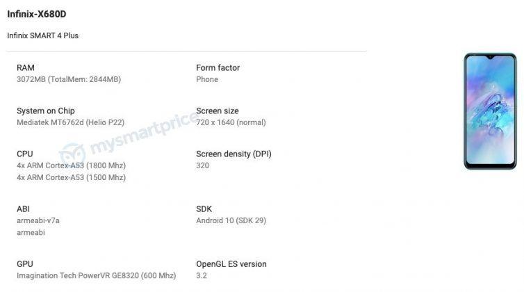 Infinix Smart 4 Plus Google Play Console