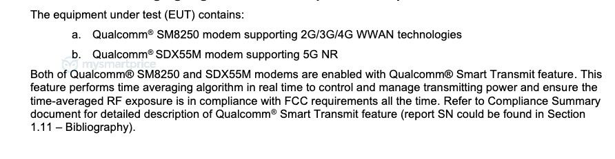 Galaxy Note 20 Plus (SM-N986U) FCC SM8250