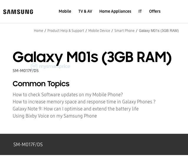 Samsung Galaxy M01s (SM-M017F_DS)