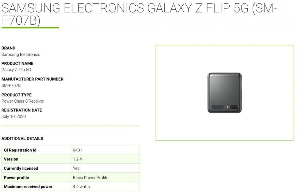Samsung Galaxy Z Flip 5G (SM-F707B) WPC