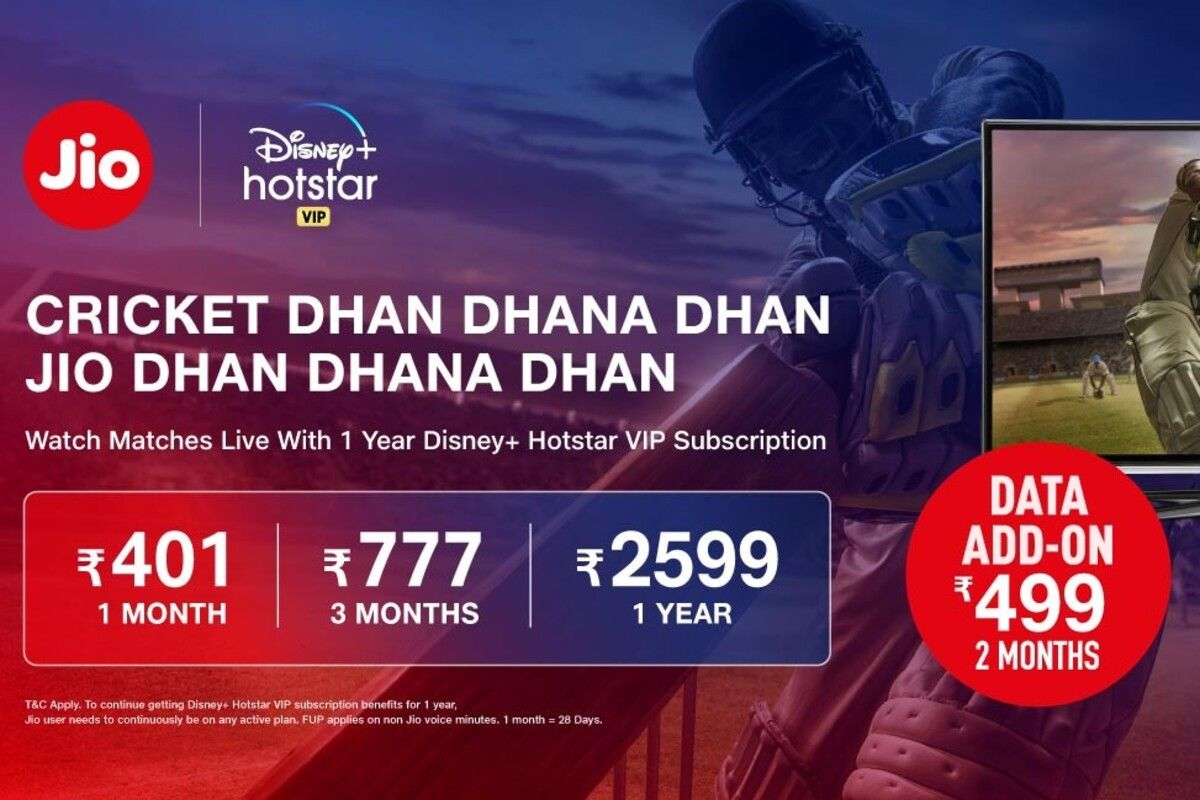 Jio Ipl 2020 Special Recharge Plans Rs 499 And Rs 777 Packs Launched With Disney Plus Hotstar Vip Benefits Mysmartprice