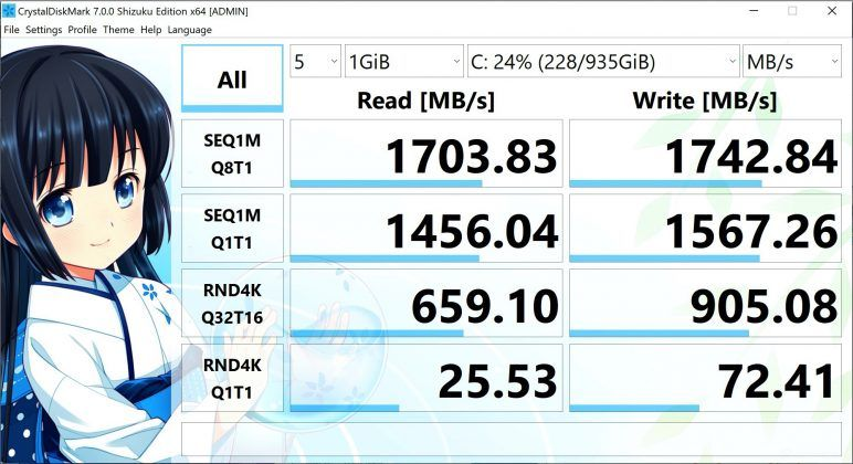 ASUS ROG Zephyrus G14 screenshot 07 (CrystalDiskMark benchmark)