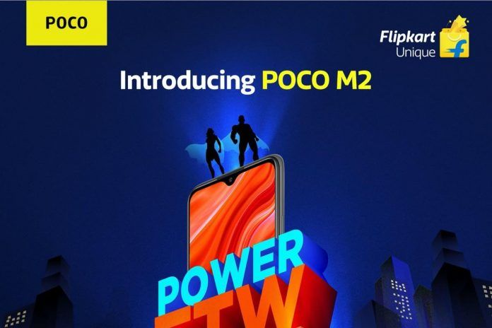 POCO M2 launch poster
