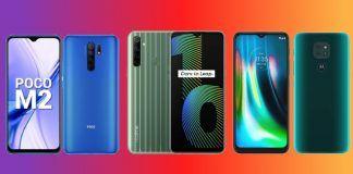POCO M2 vs Realme Narzo 10 vs Motorola Moto G9