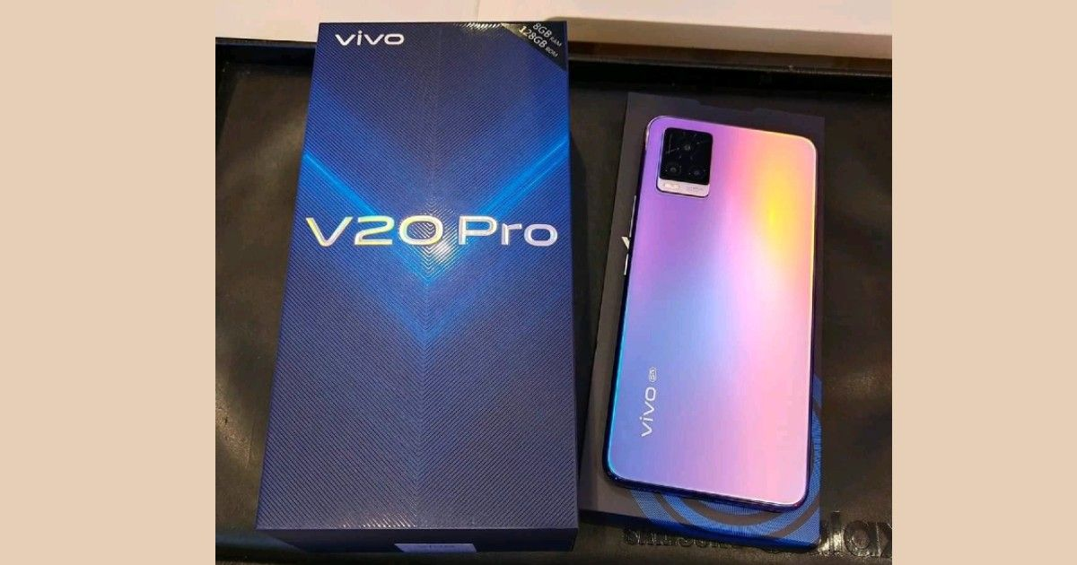 Vivo V20 Pro 8gb Variant Live Image And Retail Box Leaked Online Ahead Of Launch Design Confirmed Mysmartprice