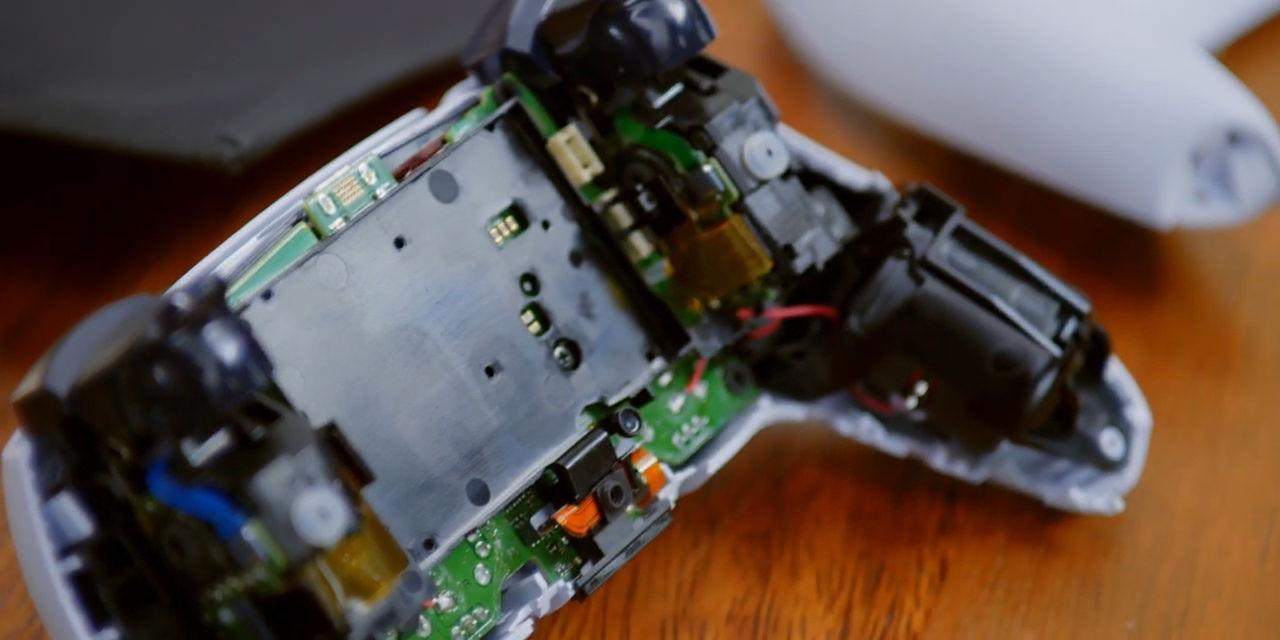 Sony PS5 DualSense controller teardown showing internals