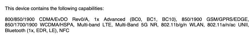 LG K92 5G FCC Listing