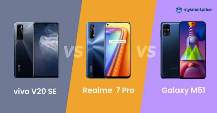 Vivo V20 SE vs Realme 7 Pro vs Samsung Galaxy M51