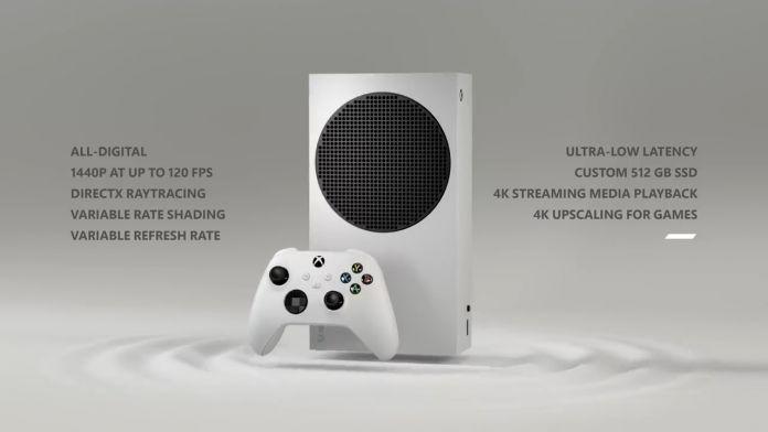 Xbox Series S specs screenshot